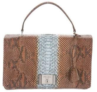 Prada 2017 Python Lock Handle Bag