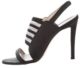 Christopher Kane Leather Slingback Sandals