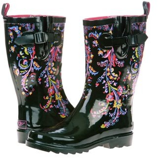 Forever Young Women's Draped Floral Printed Rain Boot