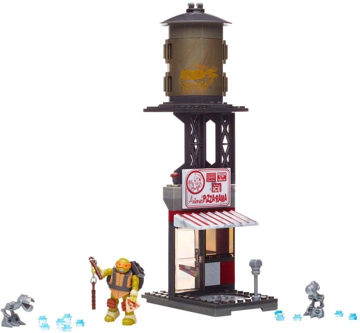 Mega Bloks Teenage Mutant Ninja Turtles Mikey Pizzaria Showdown Playset Building Kit