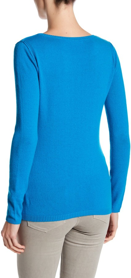 In Cashmere Cashmere Open-Stitch Pullover Sweater 3