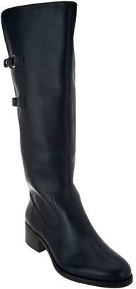 Isaac Mizrahi Live! Riding Boots with Straps - Medium Calf