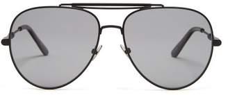 Bottega Veneta Aviator Metal Sunglasses - Mens - Black