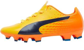 4b60ba4470a8 Puma Junior evoSPEED 17 SL S FG Football Boots Yellow/Peacoat/Orange Clown  Fish