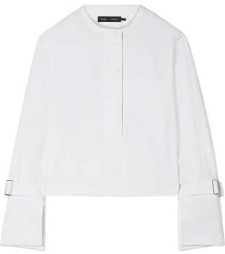 Proenza Schouler Cropped Stretch-cotton Poplin Shirt - White
