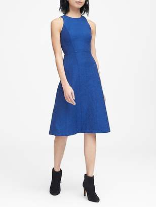 Banana Republic Italian Tweed Fit-and-Flare Dress