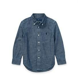Polo Ralph Lauren Indigo Cotton Chambray Shirt(2-7 Years)