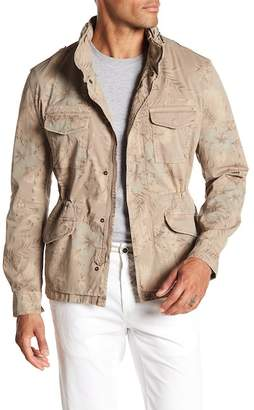 Mason Sand Field Floral Print Military Jacket