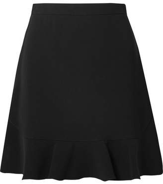 Miu Miu Ruffled Cady Mini Skirt - Black