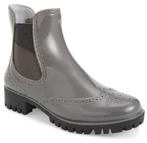 dav Leeds Brogue Rain Boot