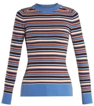 Joostricot - Crew Neck Long Sleeved Knit Sweater - Womens - Multi