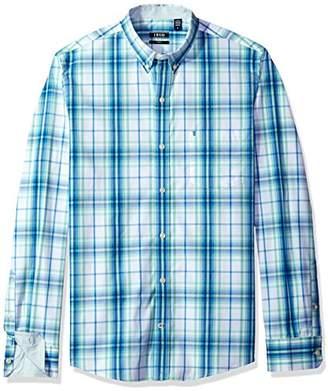 Izod Men's Premium Essential Plaid Long Sleeve Shirt (Regular and Slim Fit)