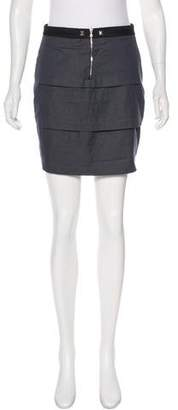Laila Azhar Tiered Mini Skirt