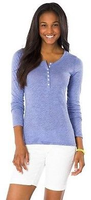 Women's Long Sleeve Henley Shirt - Mossimo Supply Co. (Juniors') $14.99 thestylecure.com