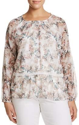 Glamorous CURVY Floral-Print Peplum Top
