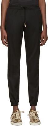 Saint Laurent Black Drawstring Jogger Trousers $990 thestylecure.com