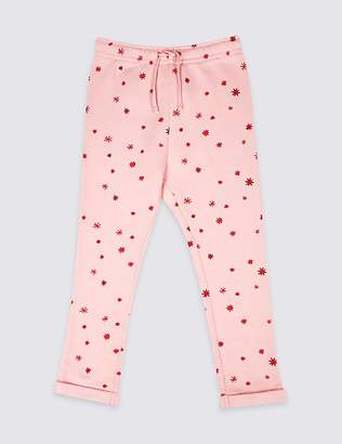 Marks and Spencer Cotton Rich Star Joggers (3 Months - 7 Years)