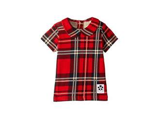 Mini Rodini Check Collar Tee (Infant/Toddler/Little Kids/Big Kids)