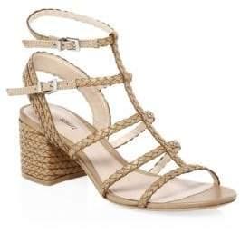 Schutz Clarcie Block-Heel Sandals