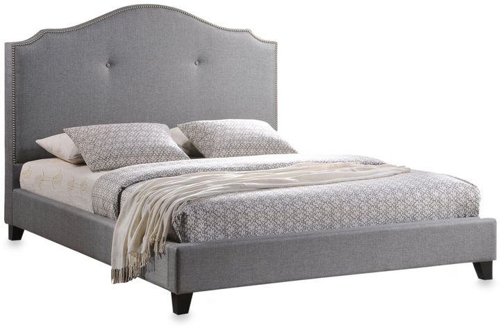Bed Bath & Beyond Marsha Full Designer Bed with Upholstered Headboard in Grey