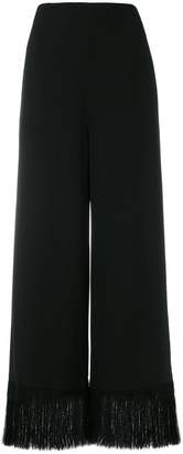 Nina Ricci frayed-hem palazzo pants