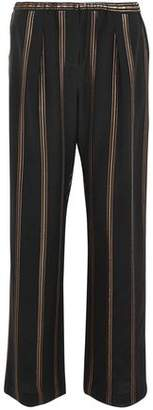 Brunello Cucinelli Silk-Crepe Wide-Leg Pants