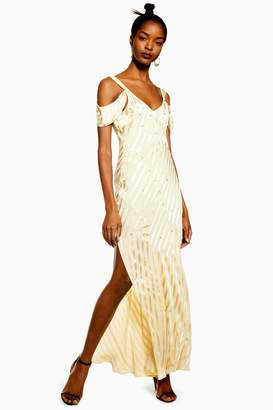 d15fd2ca0902 Topshop Womens Diamante Maxi Slip Dress - Yellow