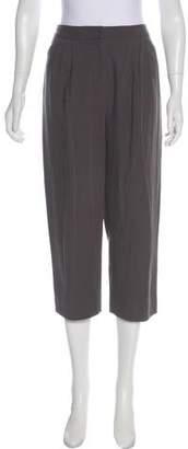 Halston High-Rise Cropped Pants