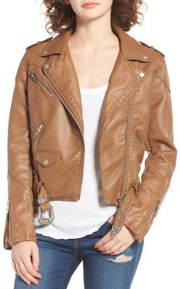 BLANKNYC Denim Faux Leather Jacket $128 thestylecure.com