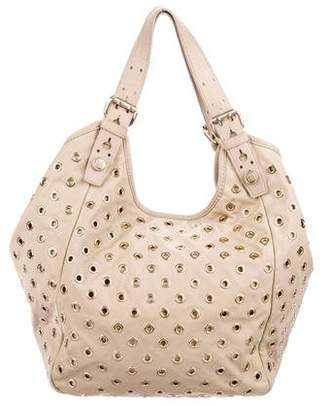 Givenchy Grommet-Embellished Leather-Trimmed Tote