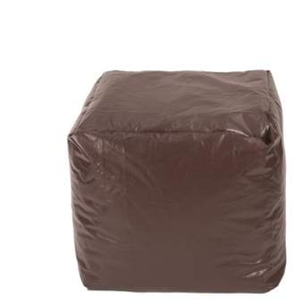 Gold Medal Small Leather Look Vinyl Ottoman