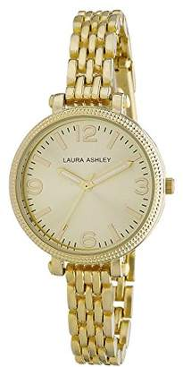 Laura Ashley Women's LA31006YG Analog Display Japanese Quartz Gold Watch $59.99 thestylecure.com