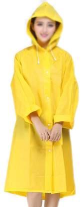 October Elf Women Ladies Hooded Raincoat EVA Rain Jacket Poncho (L, )