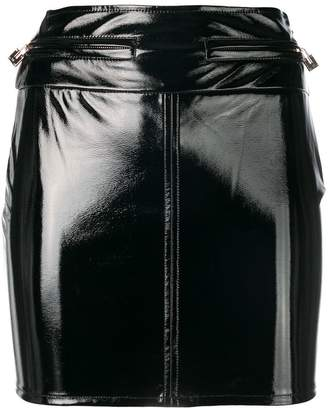 Elisabetta Franchi varnished mini skirt
