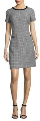 Short Sleeve Tweed Sheath Dress
