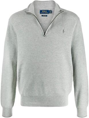 Polo Ralph Lauren half-zip embroidered motif jumper