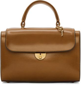 Maison Margiela Brown Leather Duffle Bag $1,985 thestylecure.com