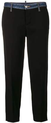 DSQUARED2 denim trimmed trousers