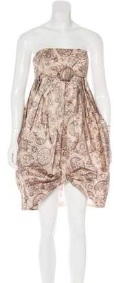 Anna Sui Strapless Mini Dress