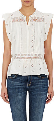 Ulla Johnson Women's Oksana Flutter-Sleeve Top $230 thestylecure.com