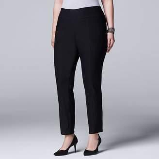 Vera Wang Plus Size Simply Vera Modern Fit Skinny Ankle Pants