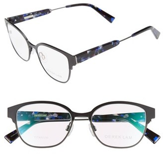 Women's Derek Lam 52Mm Optical Glasses - Black Gun