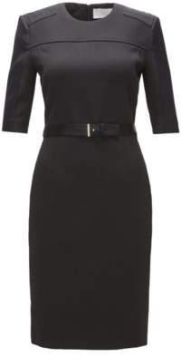 Hugo Boss Belted Sheath Dress Dakulia 8 Black