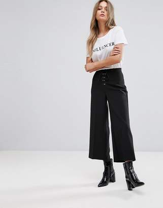 New Look Lace Up Crop Pants