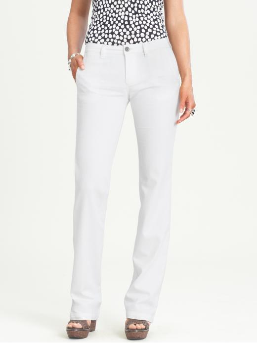 Banana Republic White Denim Trouser
