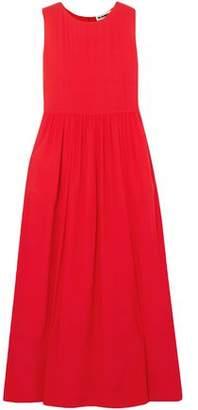 Jil Sander Silk-Crepe Maxi Dress