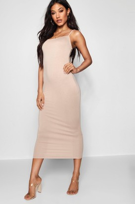 boohoo Jersey Square Neck Midaxi Dress