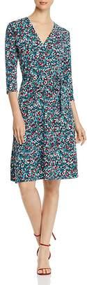 Leota Perfect Wrap Three-Quarter Sleeve Dress