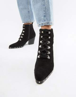 Asos DESIGN Ritz suede lace up ankle boots