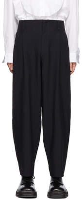 Comme des Garcons Navy Oxford Trousers
